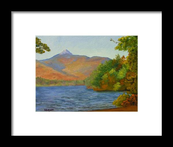 Mount Chocorua And Chocorua Lake Framed Print featuring the painting Chocorua by Sharon E Allen