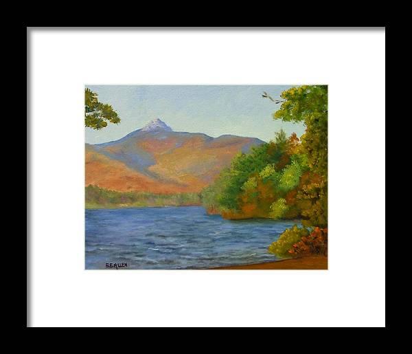 Mount Chocorua And Chocorua Lake Framed Print featuring the painting Chocorua by Sharon E Allen