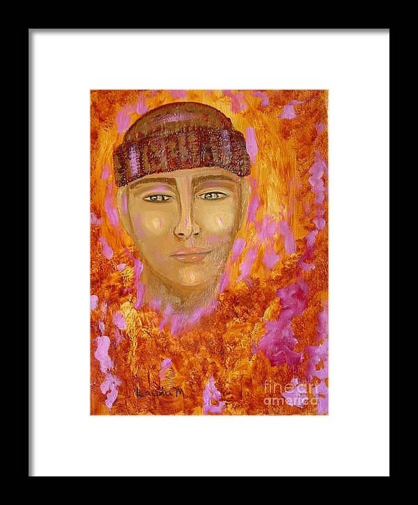 Portrait Framed Print featuring the painting Choices by Laurie Morgan