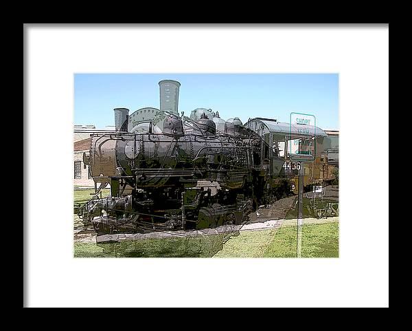 Photo Framed Print featuring the digital art Choo Choo Train by Richard Coletti