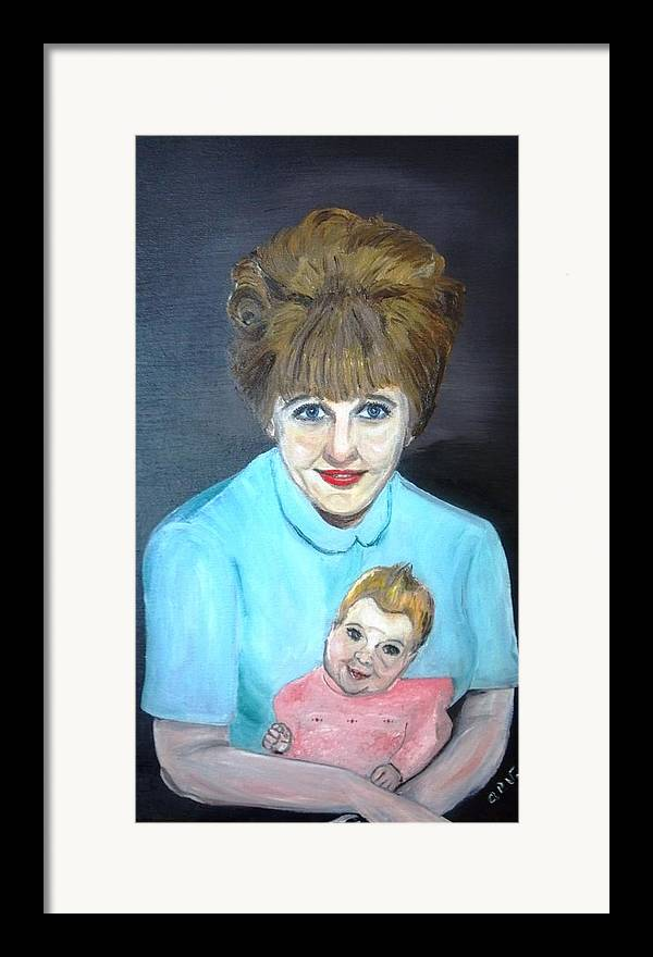 Portrait Adoption Mother Baby Family Love Better Choice Framed Print featuring the painting Choose Life by Alfred P Verhoeven