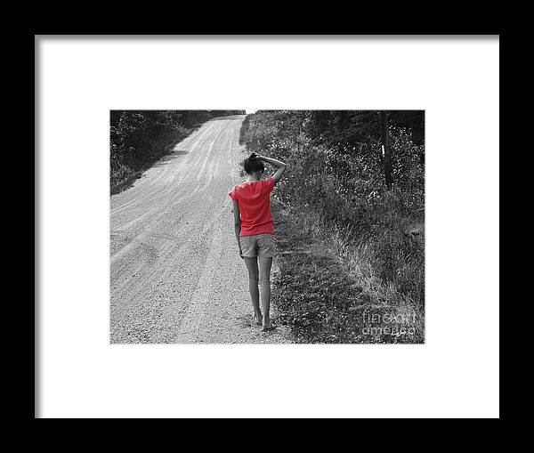 Road Framed Print featuring the photograph Choose Your Own Path by Cathy Beharriell