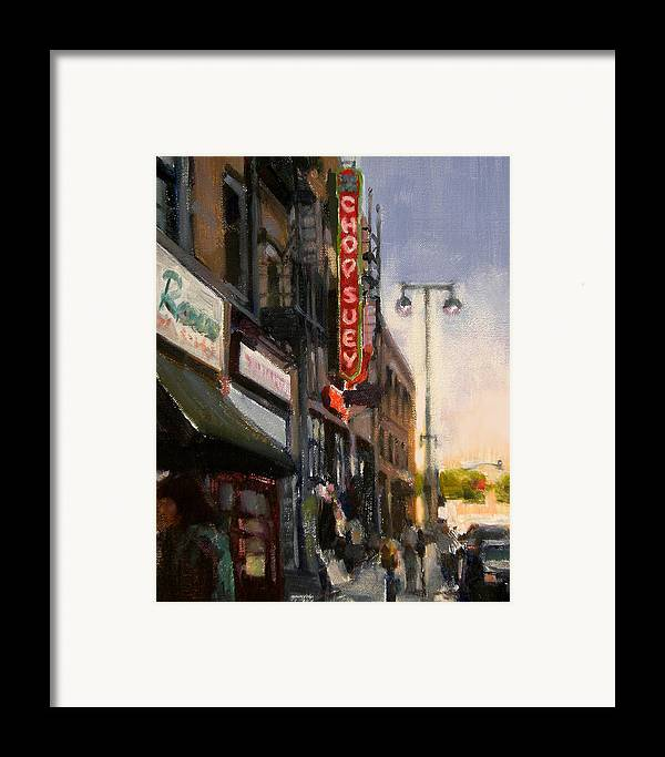 Restaurant Framed Print featuring the painting Chop Suey by Merle Keller