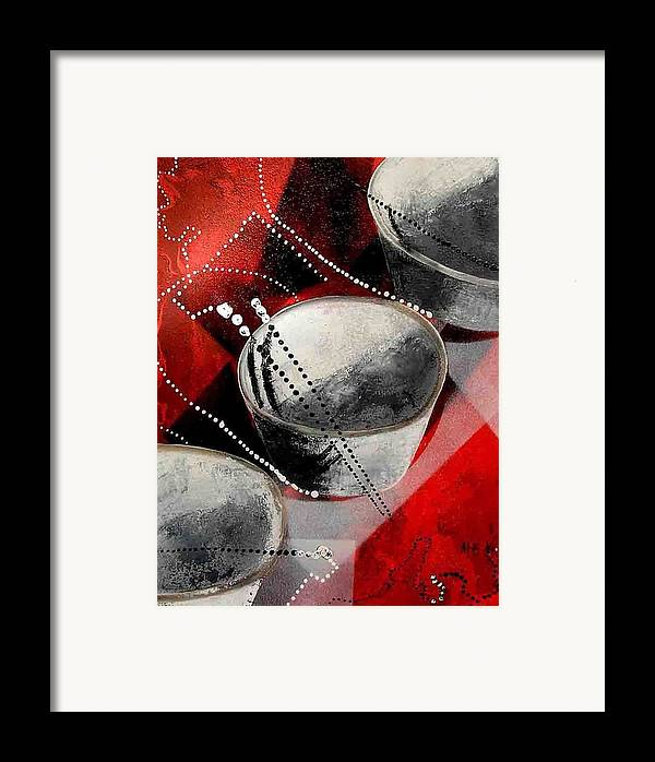 Framed Print featuring the painting Chopstick Fantasy by Evguenia Men