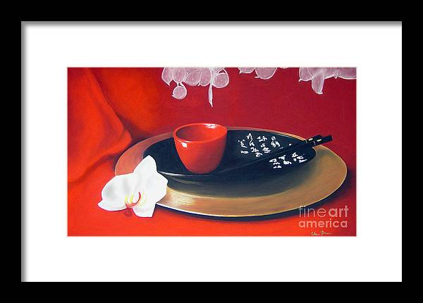 Still Life Framed Print featuring the painting Chopsticks by Colleen Brown
