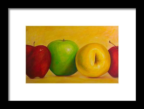 Still Life Framed Print featuring the painting Chorus Line by Shannon Grissom