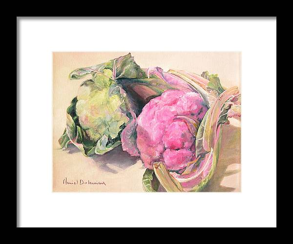 Flower Framed Print featuring the painting Choux by Muriel Dolemieux