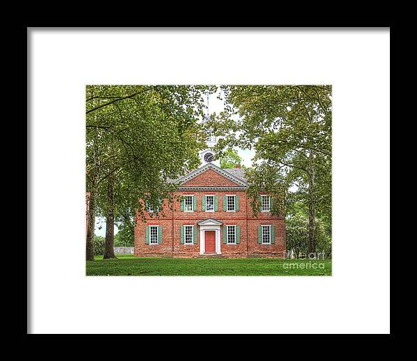 Chowan County Courthouse, Edenton, Nc Framed Print