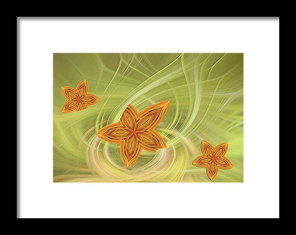 Abstract Framed Print featuring the photograph Chrams From Yesteryear by Linda Phelps