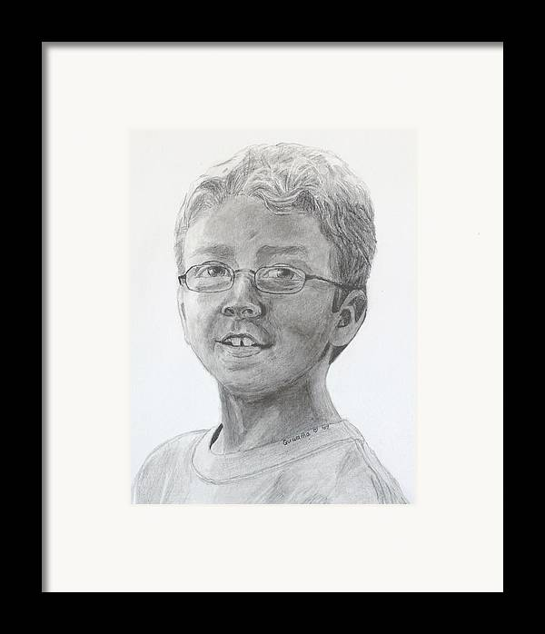 Chris Framed Print featuring the drawing Chris Dovick by Quwatha Valentine