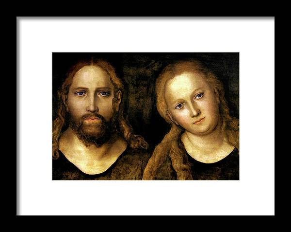 Christ And Mary Framed Print featuring the painting Christ And Mary by Lucas Cranach the Elder