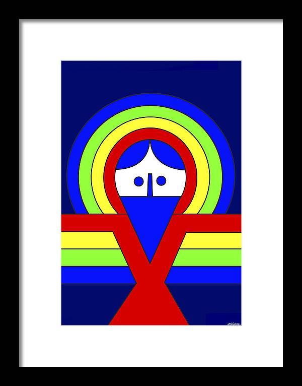 Christ Framed Print featuring the digital art Christ by Asbjorn Lonvig