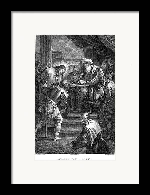 18th Century Framed Print featuring the photograph Christ Before Pilate by Granger
