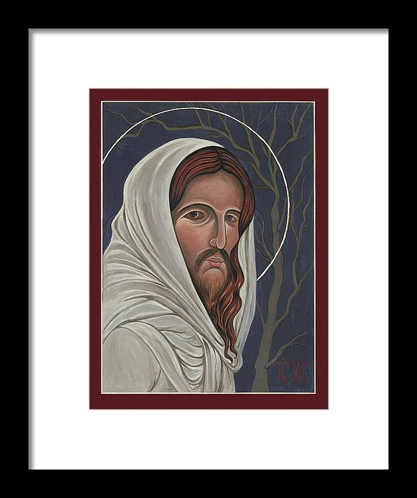 Christ Framed Print featuring the painting Christ Enters Gethsemane by Lynne Beard