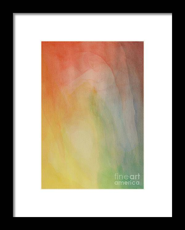 Veil Framed Print featuring the painting Christ Fishing by Nicole Besack