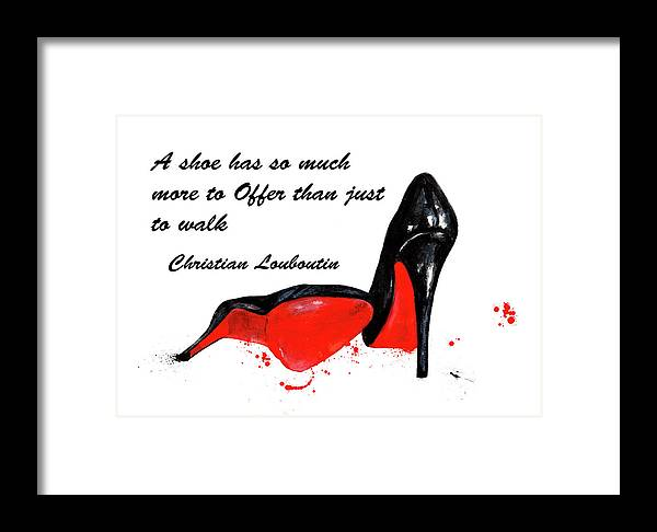 ff99568df377 Christian Louboutin Framed Print featuring the painting Christian Louboutin  Shoes 4 by Green Palace