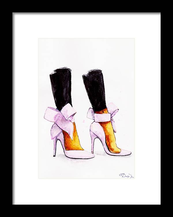 e1af629a9ebd Christian Louboutin Framed Print featuring the painting Christian Louboutin  Shoes by Del Art