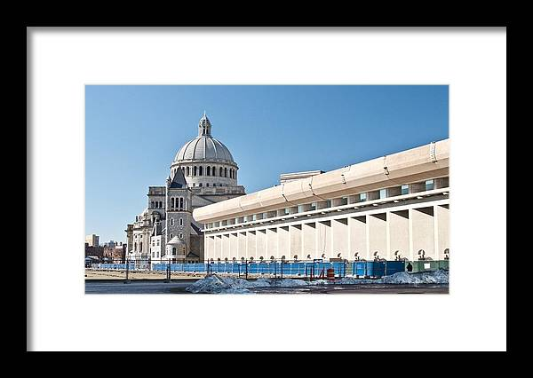 Architecture Framed Print featuring the photograph Christian Science Church by Caroline Stella