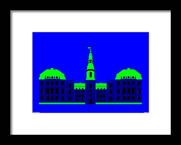 Framed Print featuring the painting Christiansborg Palace by Asbjorn Lonvig