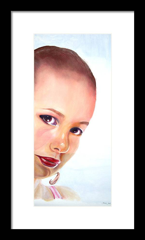 Portrait Framed Print featuring the painting Christine by Fiona Jack