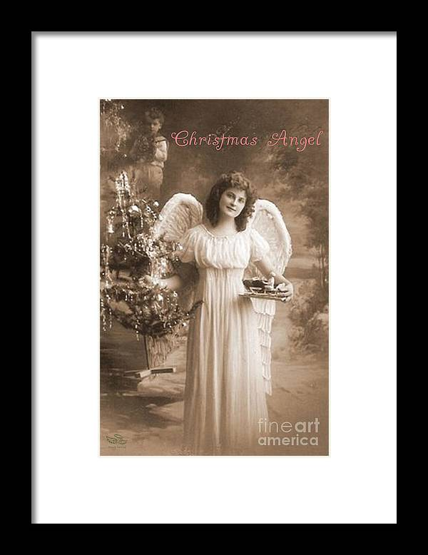Christmas Framed Print featuring the photograph Christmas Angel by Beauty For God