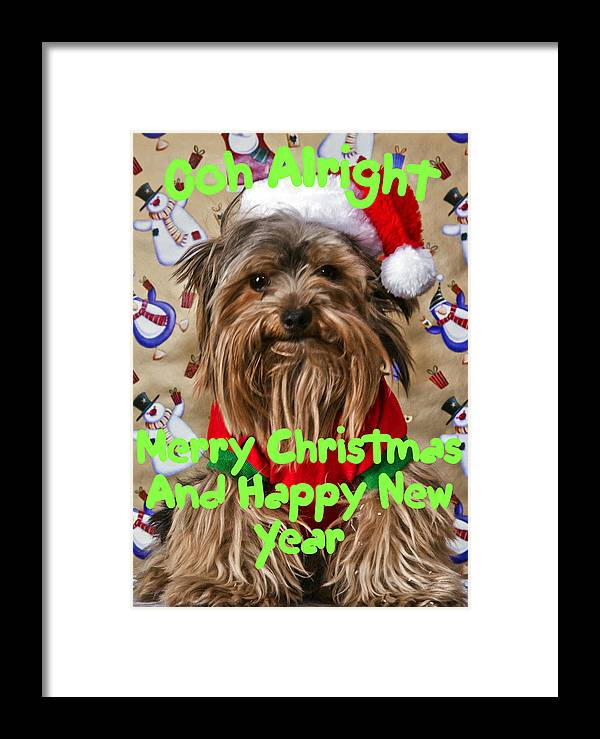 Christmas Cards Framed Print featuring the photograph Christmas Card 1 by Dennis Hofelich