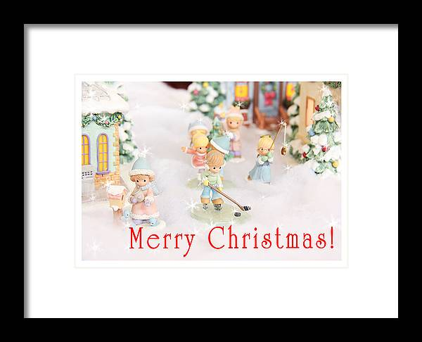 Christmas Framed Print featuring the photograph Christmas Card 5 by Masha Batkova