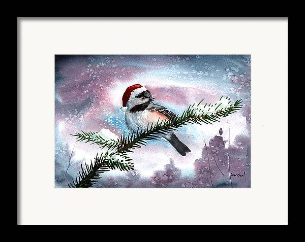 Birds Framed Print featuring the painting Christmas Chic by Sean Seal