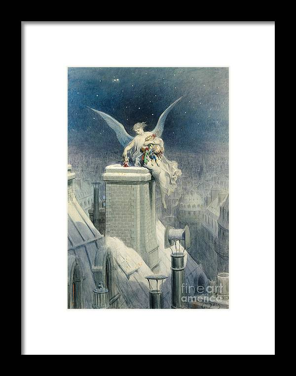 Christmas Framed Print featuring the painting Christmas Eve by Gustave Dore