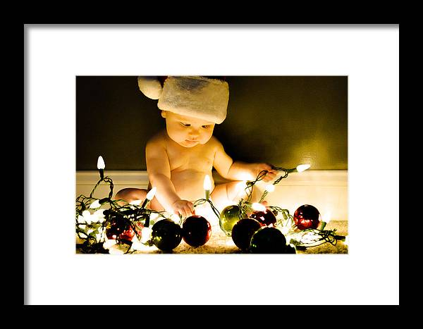 Christmas Framed Print featuring the photograph Christmas In A Baby's Eyes by Chris Jones