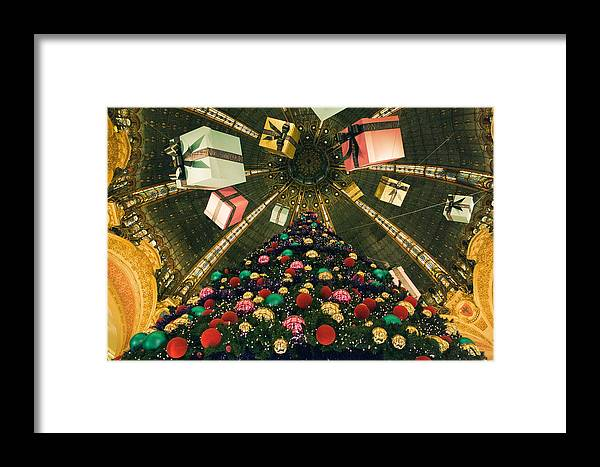 Christmas Framed Print featuring the photograph Christmas In Paris 2010 - #2 by Sophia Pagan