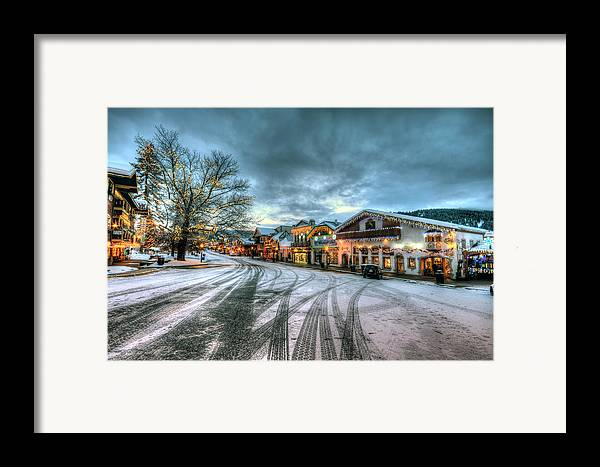 Hdr Framed Print featuring the photograph Christmas On Main Street by Brad Granger