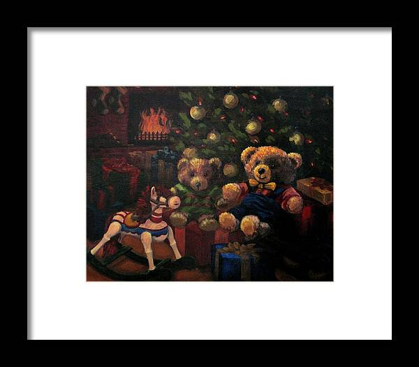 Christmas Framed Print featuring the painting Christmas Past by Karen Ilari