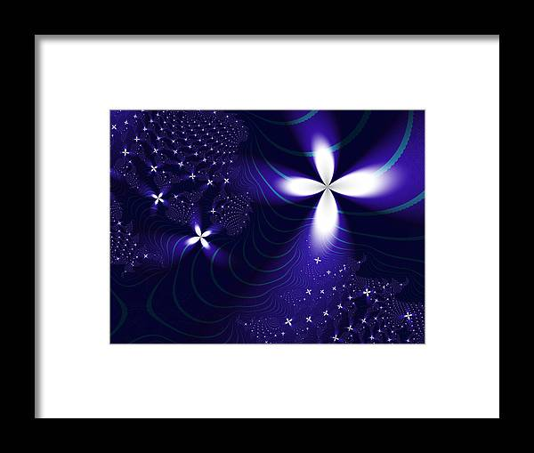Fractal Framed Print featuring the digital art Christmas Star by Vicky Brago-Mitchell