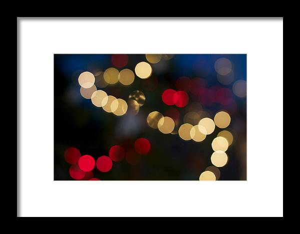 Bokeh Framed Print featuring the photograph Christmas Tree by Brady Lane