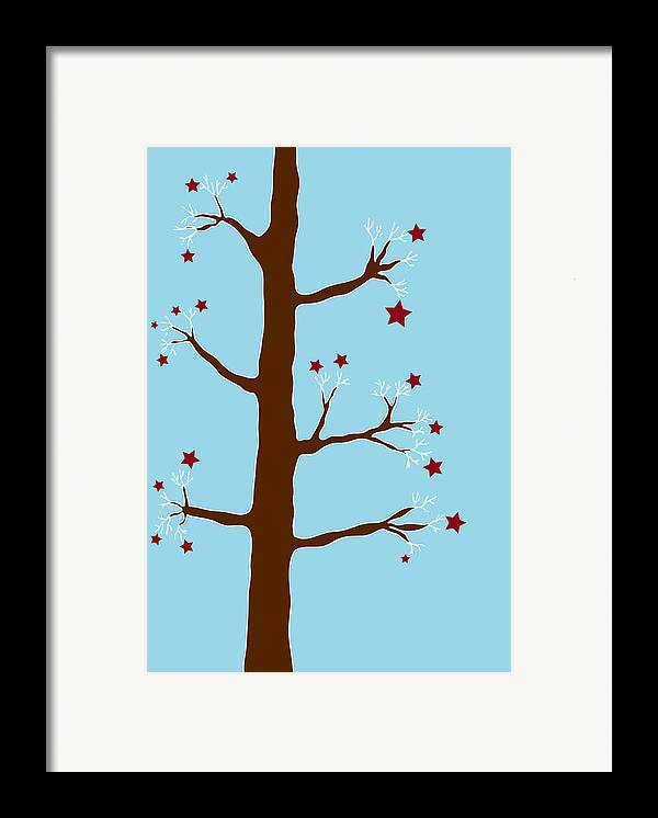 Christmas Framed Print featuring the painting Christmas Tree by Frank Tschakert