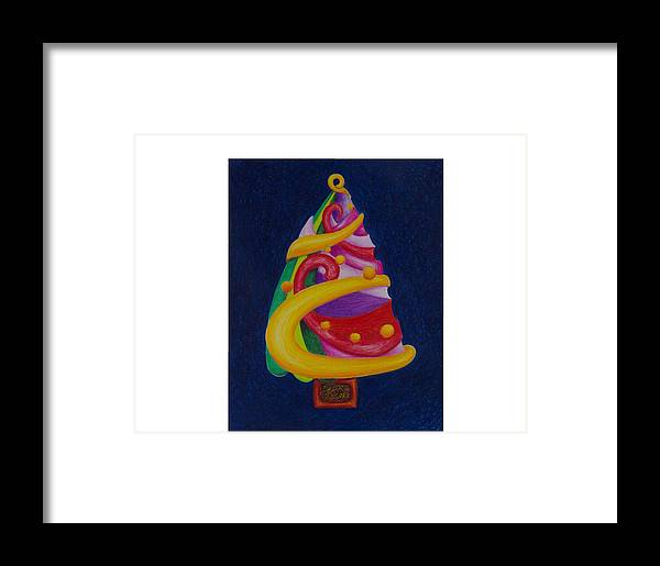 Christmas Framed Print featuring the drawing Christmas Tree No. Two by Rick Ahlvers