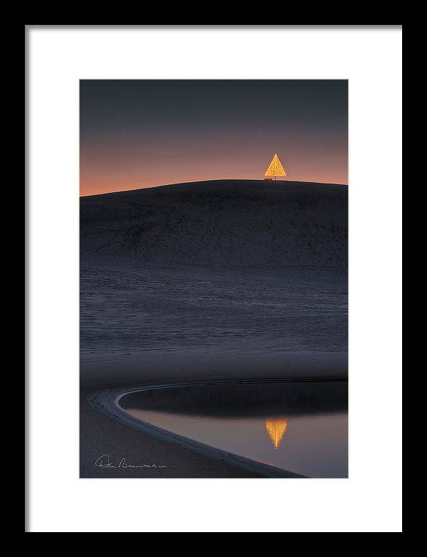 Christmas Framed Print featuring the photograph Christmas Tree On Jockey's Ridge 6970 by Dan Beauvais