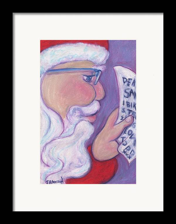 Santa Framed Print featuring the painting Christmas Wishes by Todd Peterson