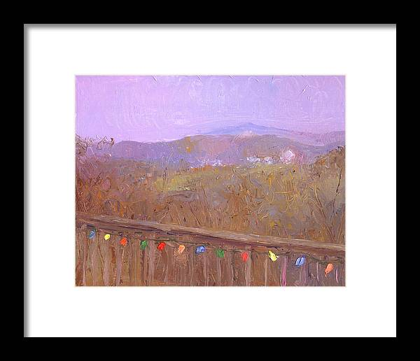 Landscape Framed Print featuring the painting Christmastime Present by Timothy Chambers