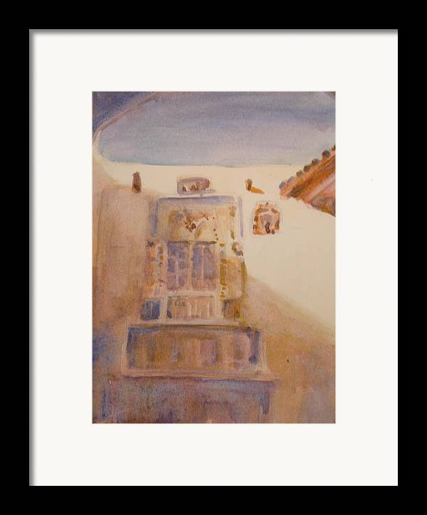 Adobe House Framed Print featuring the painting Christopher Colon House by Joyce Kanyuk