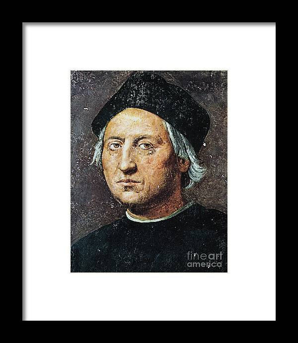 15th Century Framed Print featuring the painting Christopher Columbus by Granger