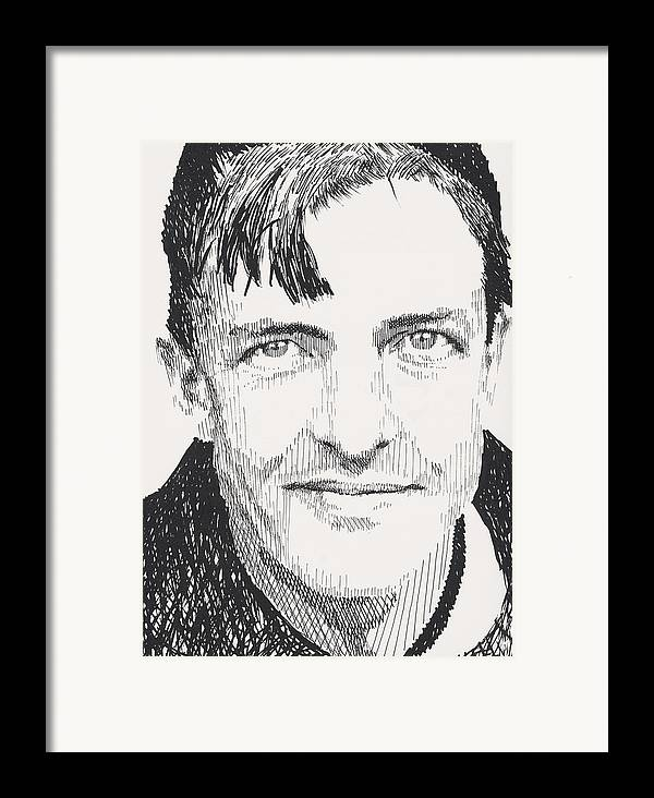 Christy Mathewson Framed Print featuring the painting Christy Mathewson by Robbi Musser