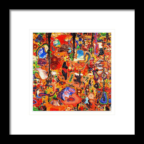 Abstract Framed Print featuring the painting Chromo-erotica by Howard Goldberg
