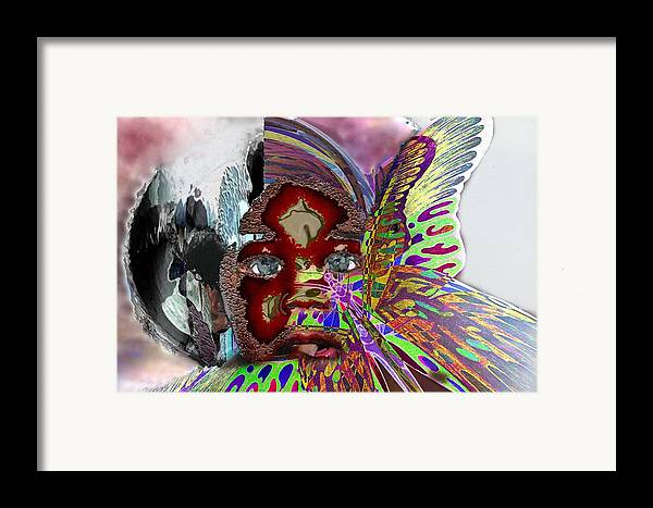 Portrait Framed Print featuring the mixed media Chrysalis by LeeAnn Alexander
