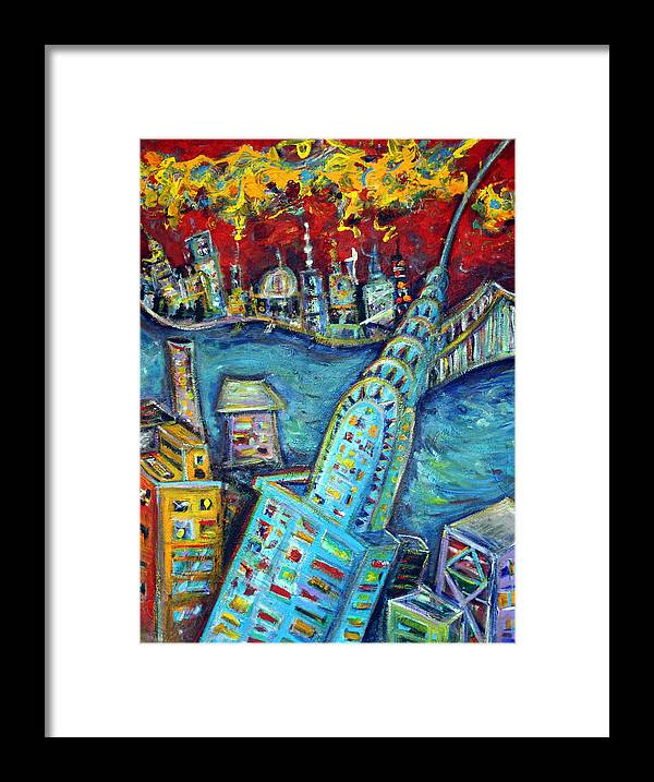 New York City Framed Print featuring the painting Chrysler Building by Jason Gluskin
