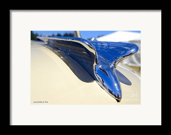 Chrysler Framed Print featuring the photograph Chrysler New Yorker Deluxe Hood Ornament by Larry Keahey