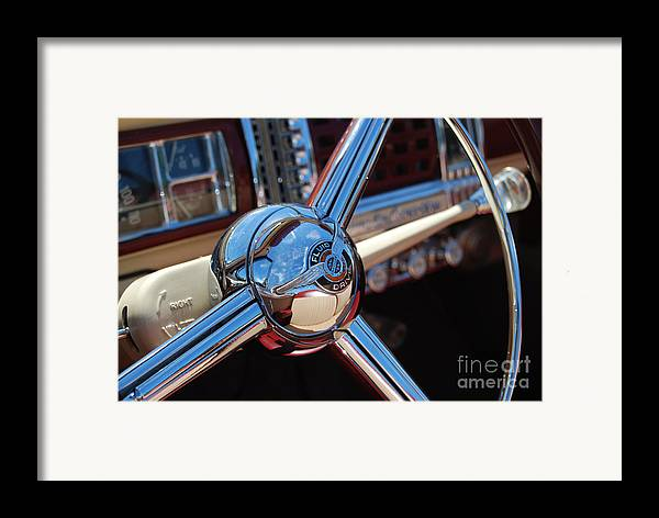 Classics Framed Print featuring the photograph Chrysler Town And Country Steering Wheel by Larry Keahey