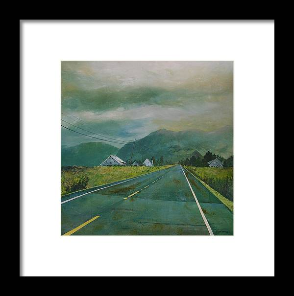 Landscape Framed Print featuring the painting Chuckanut Drive by Richard Ong