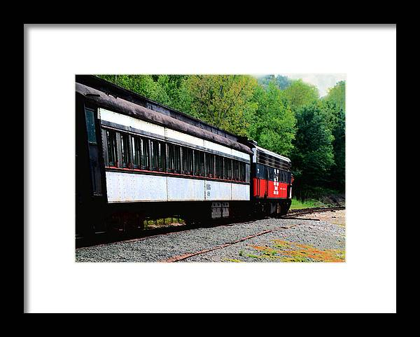 Train Framed Print featuring the photograph Chugging Along by RC DeWinter